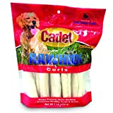 IMS Trading 10040 Natural Rawhide Curls for Dogs, 1-Pound by IMS Trading