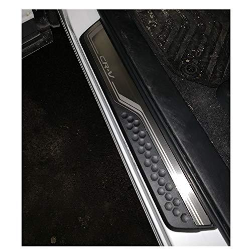 LFOTPP Edelstahl Einstiegsleisten Abdeckung für CRV Türschweller 4 Stück