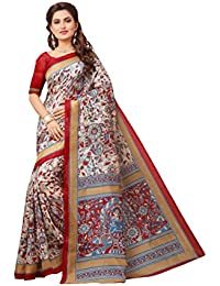 Tagline Women's Cotton Art Silk Saree With Blouse Piece