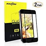 Panzerglas für Iphone 5/5c/5s/SE, 2 Stück Ultra-klar 3D Vollständige Abdeckung 9H Härtegrad 4,0 Zoll 3D Panzerglasfolie Displayschutzfolie für iPhone 5/5c/5s/SE (Schwarz)