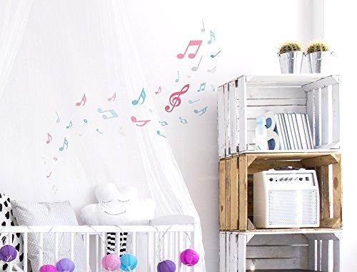 Pegatina Pared Set habitación Infantil Notas música