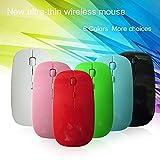 Duoying Ultradünne Wire-Less Maus [Aktualisierte Version], 2.4G USB Drahtlose Mäuse Optical PC Laptop Computer Schnurlose Maus, 16 Millionen ID Code Designs 800-1600 DPI Einstellbare Frequenz