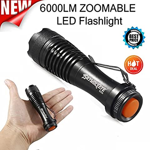 WINWINTOM 2000LM CREE Q5 AA / 14500 3Mode ZOOM LED super helle Taschenlampe MINI-Polizeifackel
