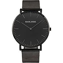 Alienwork Classic St.Mawes Quartz Watch elegant Wristwatch stylish Timeless design classic Metal silver black U04916G-03
