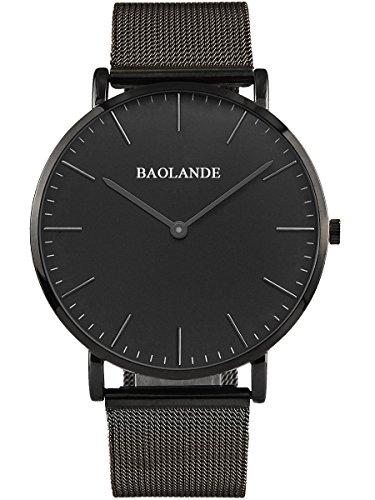 Alienwork-Classic-StMawes-Quarz-Armbanduhr-elegant-Quarzuhr-Uhr-modisch-Zeitloses-Design-klassisch-silber-schwarz-Metall-U04916G-03