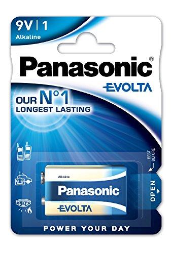 Panasonic Evolta 6LR61EGE/1BP Pile Alcaline 9 V
