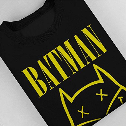 Batman Nirvana Mashup Womens Sweatshirt Black