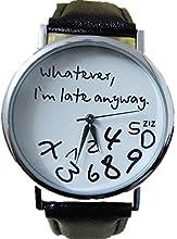 KanLin1986 mujer Reloj de cuero Relojs de la letra modelo estilo simple