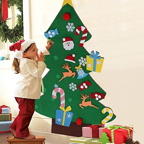Aytai 3ft Fai da Te Albero di Natale Feltro con Ornamenti per i Regali di Natale dei Capretti Decorazione di Appendere di Parete del Portello di Anno Nuovo