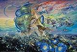 Josephine Wall – Andromeda Quest Poster Drucken (91,44 x 60,96 cm)