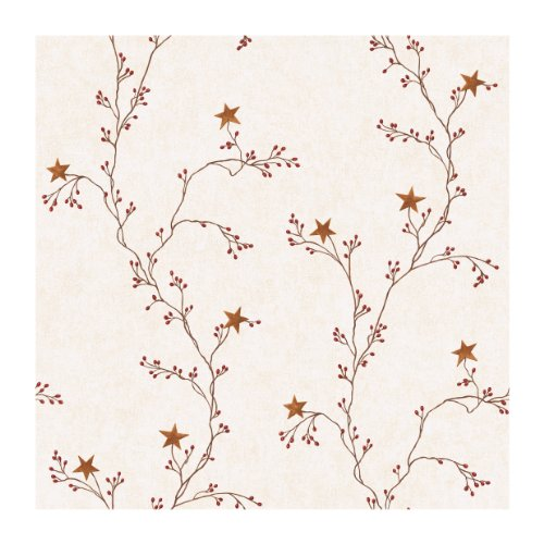 York Wallcoverings Best of Country rf3525 Star Berry Vine Tapeten, Off White by York Wallcoverings - Star Berry Vine