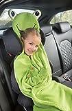 Kinder Kuscheldecke Reisedecke mit Ärmeln 100x126 cm (Frosch)
