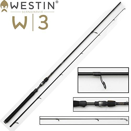 Westin W3 Powershad 240 cm MH 15-40g Spinnrute für Zander, Barsch, Forellen & Hecht, Angelrute zum Zanderangeln, Forellenangeln, Barschangeln & Hechtangeln, 2-teilige Rute
