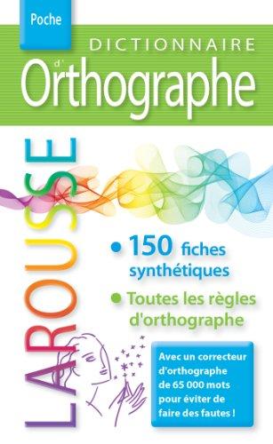 Dictionnaire d'orthographe Larousse poche