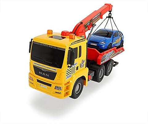 Dickie Toys 203809001 - Air Pump Tow Truck, Abschleppauto mit Luftpumpfuktion, 55 cm
