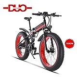 GUNAI Bicicletta Elettrica Pieghevole Bici da Montagna 48V 1000W Ebike con Batteria al Litio da 26Velocità Sospensione Completa Premium e Cambio