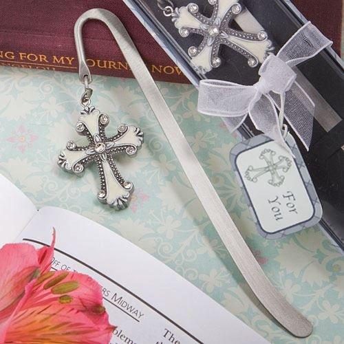 Kreuz Themed Lesezeichen-Bevorzugungen - Silber
