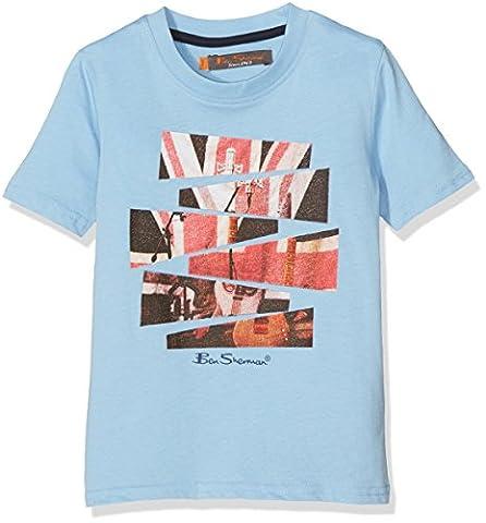 Ben Sherman Guitar London, T-Shirt Garçon, Blue (Sky Blue), 2-3 Ans