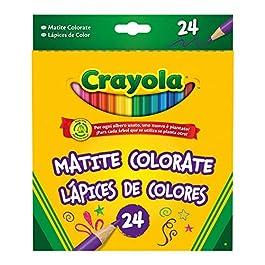 CRAYOLA – Matite Colorate Pretemperate per Bambini, 24 colori