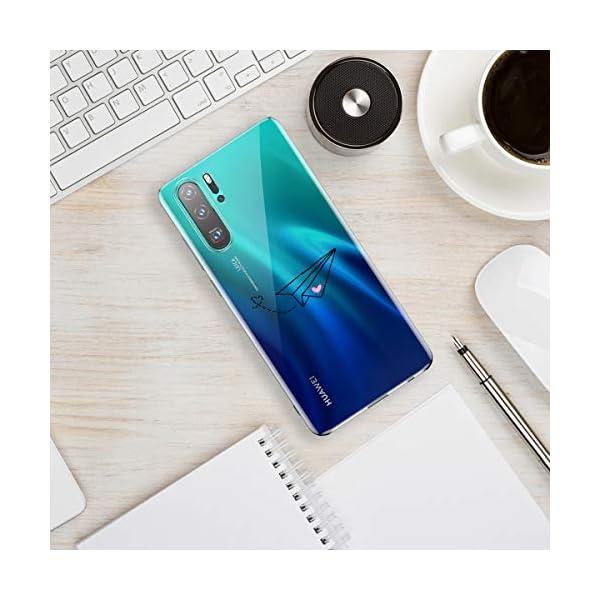 Oihxse Transparente Silicona Case Compatible con Huawei Enjoy 8 Plus/Y9 2018 Funda Suave TPU Protección Carcasa Moda… 3