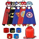 RioRand Superhelden Kostüm für Kinder Helden verkleiden Sich mit Masken and Armbänders (5-Pack+Bands)