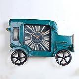 Hyzb Vorbildliche Retro- alte Wanduhr des industriellen Windeisenautos nach Hause (größe : 49cm*71cm)