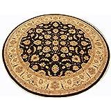 Runder Orientteppich Ziegler ca. 308 cm Ø Schwarz - feine Qualität - moderner Teppich - oriental round carpet Zigler best quality