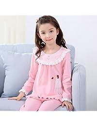 Pijamas de Manga Larga de algodón de Primavera y otoño de Las niñas Pijama de otoño