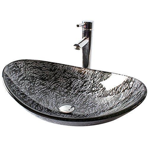 HomeLava Lavabo Vasque en Verre Trempé Gris , à poser...