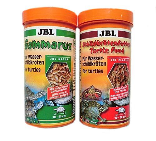 JBL Wasserschildkröten Futter Set Gammarus 250 ml & Schildkrötenfutter 250 ml