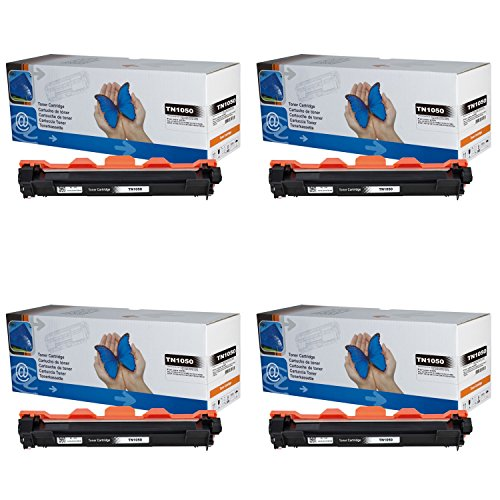 4x Toner TN1050 für Brother DCP-1510, DCP-1512, DCP-1512A, DCP-1601, DCP-1610W, DCP-1612W, DCP-1616NW, Brother HL-1110, HL-1110R, HL-1112, HL-1201, HL-1210W, HL-1211W, HL-1212W