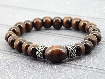Bracelet pour homme de la gamme Africa Dream en acier et bois