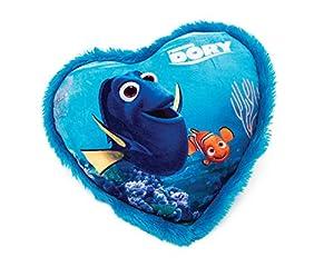 Disney Buscando Dory Cojín en forma de corazón en peluche, 33 cm