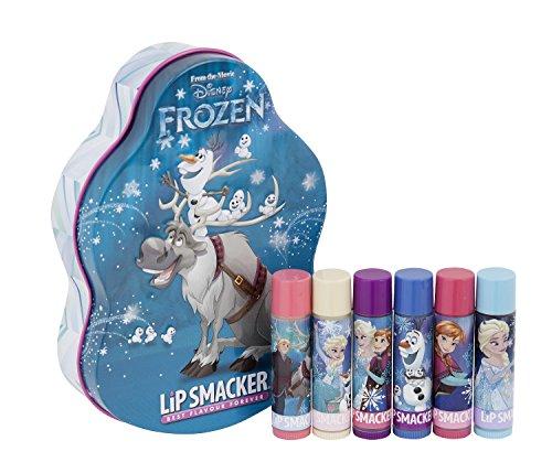 Lip Smacker Disney Reine des Neiges Lumières du Nord Olaf/sven Coffret Métal Set de 6 Baumes à Lèvres