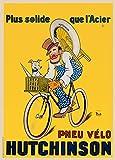 Vintage Fahrrad Reifen von Hutchinson, Frankreich 'c1919250gsm, Hochglanz, A3, vervielfältigtes Poster