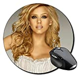 Jessica Alba B Tapis De Souris Ronde Round Mousepad PC