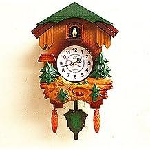Y-Hui cucù Orologio a cucù Orologio da parete per Bambini Camera da letto camera soggiorno silenzioso orologio al quarzo e un orologio sul tavolo del salotto, 20 pollici ,T5