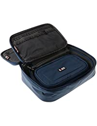 Segolike 3pcs/set Waterproof Travel Cable Storage Bag For Laptop Tablet USB Device (Large, Medium, Small) Blue