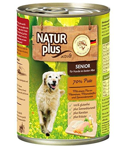 NATUR plus Hundefutter SENIOR mit 70% Pute - getreidefrei (6 x 400 - Hundefutter Plus Natur