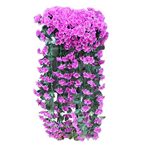 e künstliche violette Blume Wand Dekoration gefälschte Blume Glyzinien Korb hängenden Kranz Rebe Blume gefälschte Seide Orchidee ()