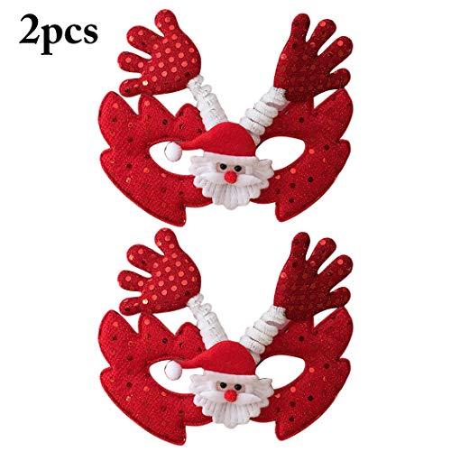 Zoylink 2 Paar Weihnachten Brille Rahmen Nette 3D -