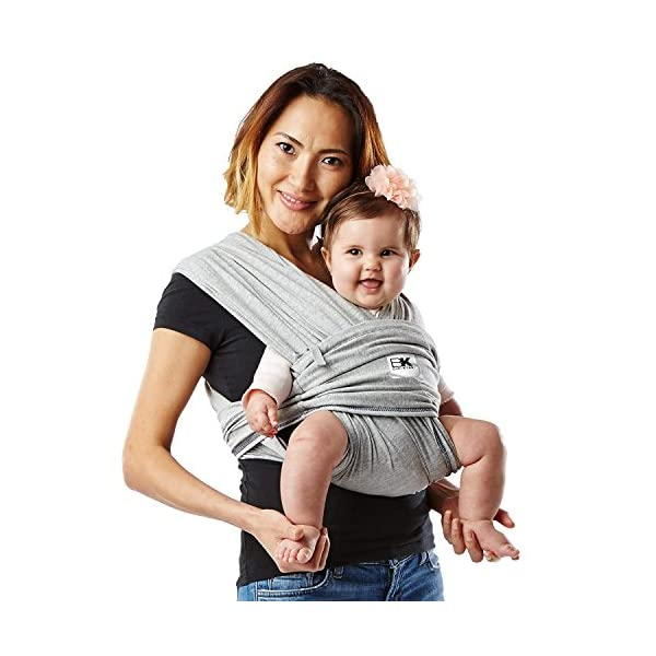 Baby K'Tan Cotton Baby Carrier Heather (X-Small, Grey) Baby Ktan Easy to use and put on: NO WRAPPING INVOLVED.  6 positions to conveniently carry baby & toddlers from 8 lbs to 35 lbs 100% soft natural cotton with unique one-way stretch. If the carrier feels tight with the first use it does not mean it is small, the carrier will stretch with use Unique HYBRID double-loop design holds baby securely and evenly distributes weight across back and both shoulders. Washer & dryer safe 1