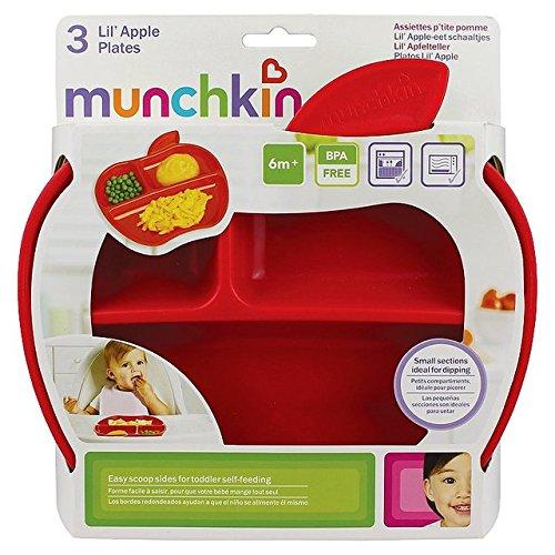 Munchkin Tellerchen in Apfelform, 3er-Pack