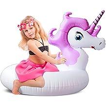 Leeron - Flotador de Piscina, Juguete Hinchable Inflable Unicornio, Violeta