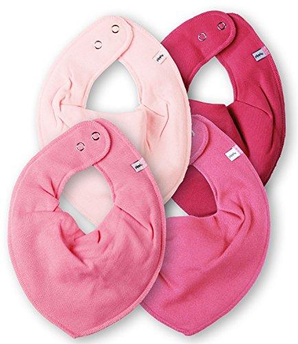Para bebés Triangular - Pippi de entrenamiento para niña bufanda del equipo de fútbol - / babero redondo de tela de pulseras o collares de cuentas - 4 Color de rosa Pippi