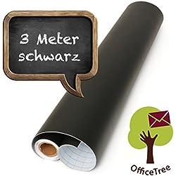 OfficeTree ® film tableau noir rouleau 300 cm - autoadhésif - 43 cm de large - ardoise - écrire dessiner peindre souligner à la craie - intérieur décoration DiY présentation - (1 rouleau)