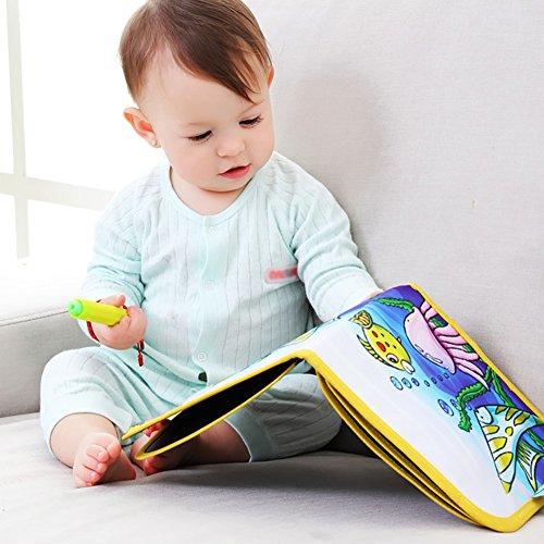 Kinder Tragbare Zeichenbrett Schreiben und Lernen Innovatives Spielzeug Bunte Kreide Tuch Buch Baby...
