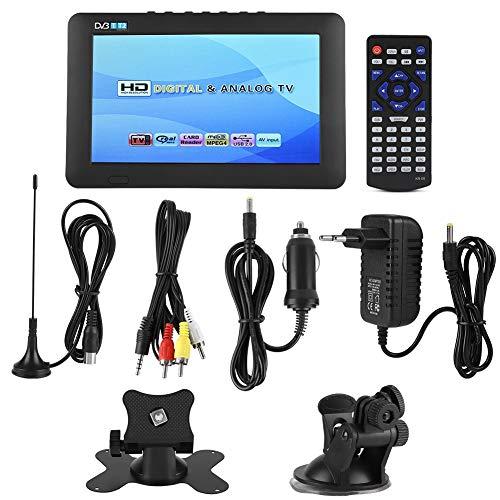 Tragbarer HD TV Portable Fernseher ,LEADSTAR DVB-T2 High Sensitivity Auto-Digital-TV-Stereo, das 1080P-Auto-Fernsehen umgibt,unterstützt AV-Eingang,TF-Karte,USB-Anschluss , Headset-Stecker(7 Zoll)