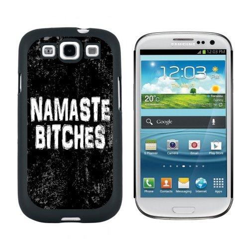 Namaste weiblich Antik Englisch–Hülle Schutzhülle Hartschale zum Aufstecken für Samsung Galaxy S3–Schwarz (3 S Phone Galaxy Sprint)