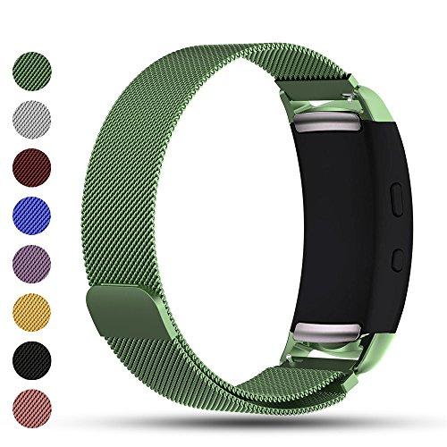 Samsung Gear Fit2 / Gear Fit 2 PRO Smart Uhr Ersatzband, iFeeker Zubehör Magnetverschluss Edelstahl Milanese Loop Metall Ersatz Armband Handschlaufe für Samsung Gear Fit2 SM-R360 und Gear Fit 2 PRO Smartwatch